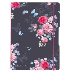 Herlitz my.book flex A4 40 kockás + 40 vonalas lap Ladylike Flower
