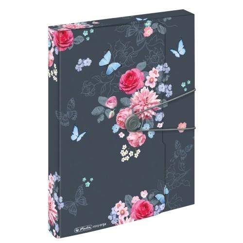 Herlitz Füzetbox A4 PP easy orga to go Ladylike Flower