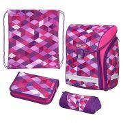 Iskolatáska Midi Plus Pink Cubes