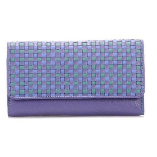 Bőrpénztárca, Mywalit, lila kockás, 1172-34