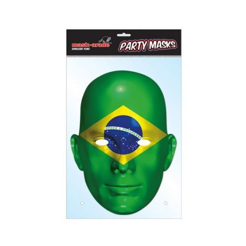 Brazil zászló maszk