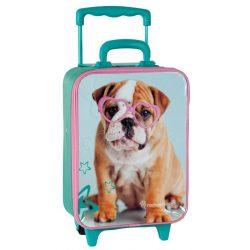 Paso bőrönd kutyás-türkiz