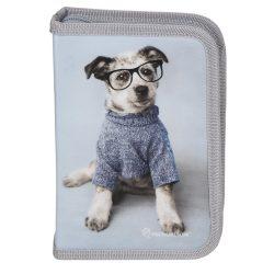 Töltött tolltartó Szemüveges kutyus