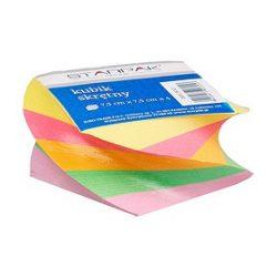 Csavart testű, négyzet alapú színes jegyzetblokk