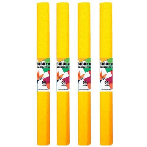 Krepp-papír (50x200cm) sárga