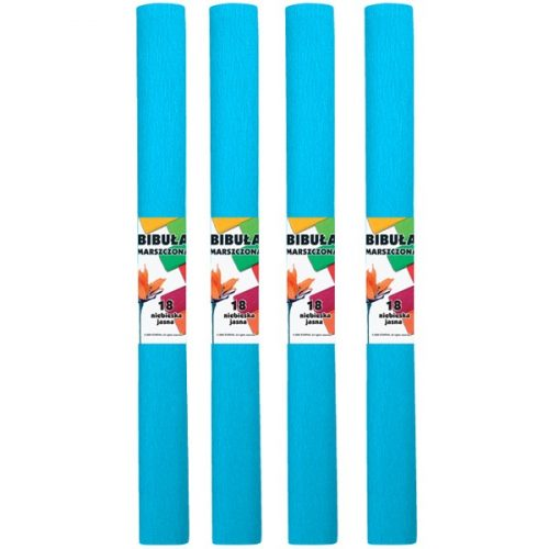 Krepp-papír (50x200cm) v.kék