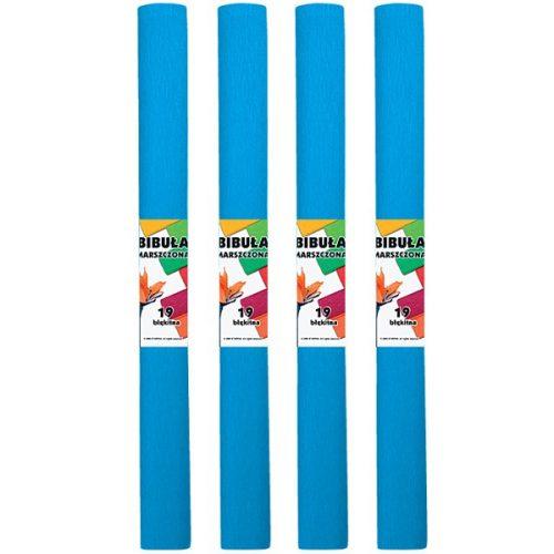 Krepp-papír (50x200cm) azúrkék