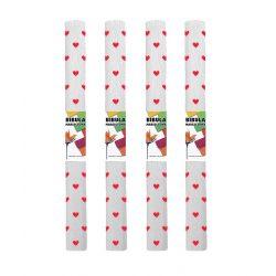 Krepp-papír (50x200cm) szívecskés