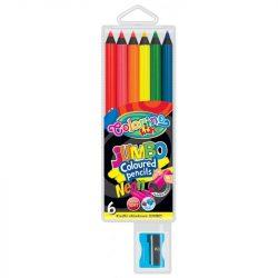 Colorino NEON JUMBO kerek 6db-os színesceruzakészlet