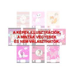 Füzet A/5 pink/black sima
