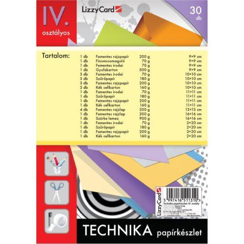 Technika tasak, papírkészlet 4. osztályos