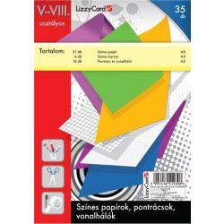 Színes papírok, pontrácsok, V-VIII. osztály