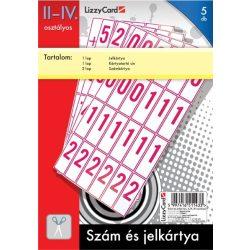 Szám- és jelkártya, II-IV. osztály