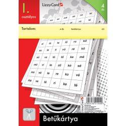 Betűkártya, I. osztályos, 4db