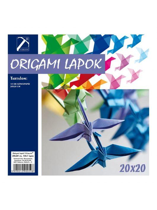 Origami lapok T-Creativ 20x20 cm