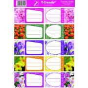 Vignetta T-Creativ mintás, 10 db/ív, Flower (virágos)