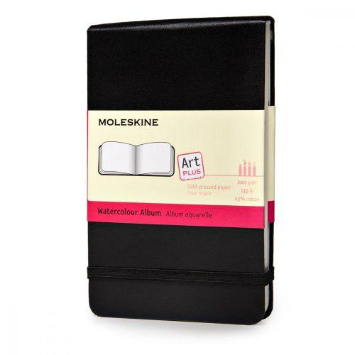"""MOLESKINE NOTESZ ARTMM803 KEMÉNY FEKETE """"P"""" WATERCOLOUR"""