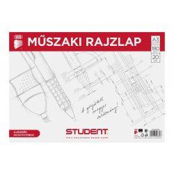STUDENT MŰSZAKI RAJZLAP A/3 20 LAP