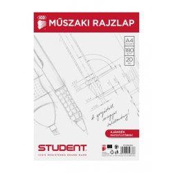 STUDENT MŰSZAKI RAJZLAP A/4 20 LAP