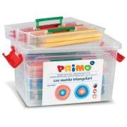 Színesceruza PRIMO vastag, háromszögletű, 12x10db, műa. tároló dobozban