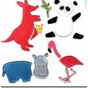 Zselés üvegmatrica; ,L,boldog állatok