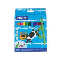 Filctoll készlet MILAN 631, 24 különböző szín, 5 mm-es hegy, hengeres test