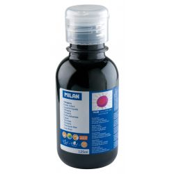 Tempera MILAN 125 ml-es, visszazárható műanyag flakon, fekete