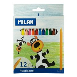 Zsírkréta MILAN, 12-es készlet, hegyezhető, radírozható, plasztikus