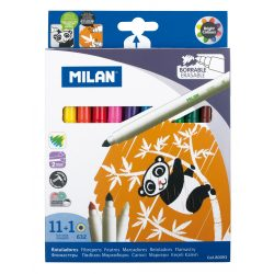 """Filctoll készlet MILAN 632, 11 db színes filctoll + 1 db """"varázsfilc"""", 5 mm-es hegy, hengeres test"""