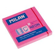 Öntapadó jegyzettömb MILAN, 75x75 mm, 80 lapos, neon pink színű
