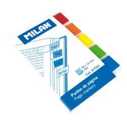 Oldaljelölő címke MILAN, téglalap alakú, áttetsző, 45x12 mm, 5x20 lapos, 5 színű