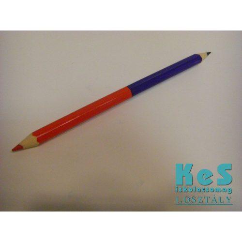 Vastag postairon ceruza, piros-kék