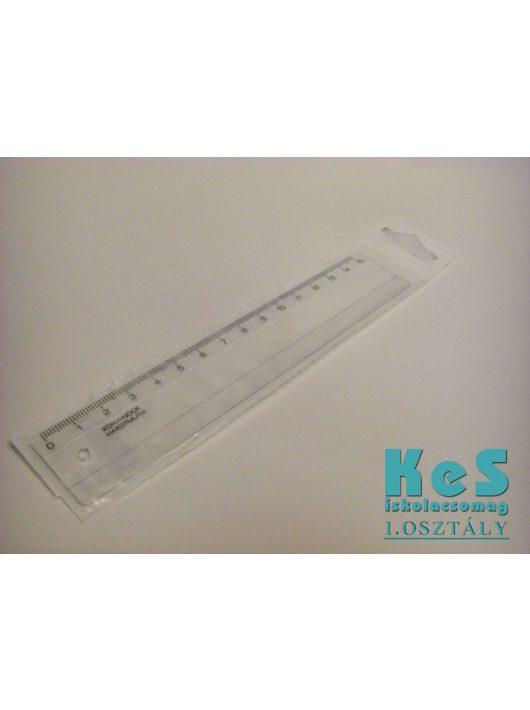 15cm-es műanyag vonalzó