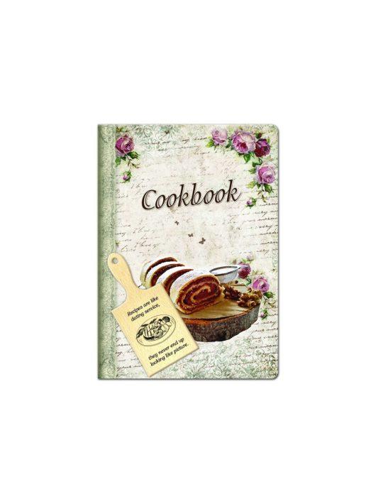 Lastva receptkönyv hűtőmágnes vágódeszkával 3870