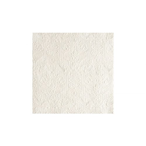 AMB.13305507 Elegance pearl white papírszalvéta 33x33cm,15db-os