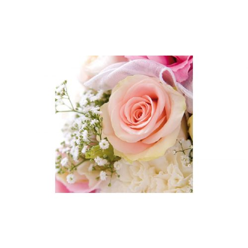 AMB.13306250 Rose Romance papírszalvéta 33x33cm,20db-os
