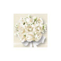 AMB.13306790 White Roses papírszalvéta 33x33cm,20db-os
