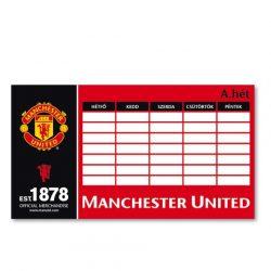 Manchester United órarend kétoldalas