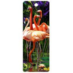 3D könyvjelző, flamingók
