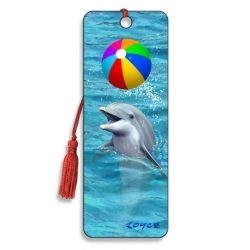 3D könyvjelző Delfin labdával