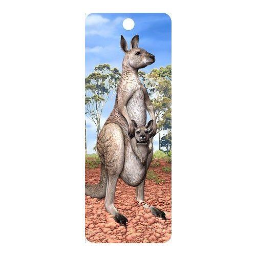 3D könyvjelző, kenguru