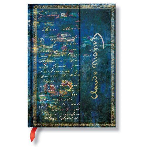 Paperblanks butikkönyv Monet, Water Lillies midi vonalas