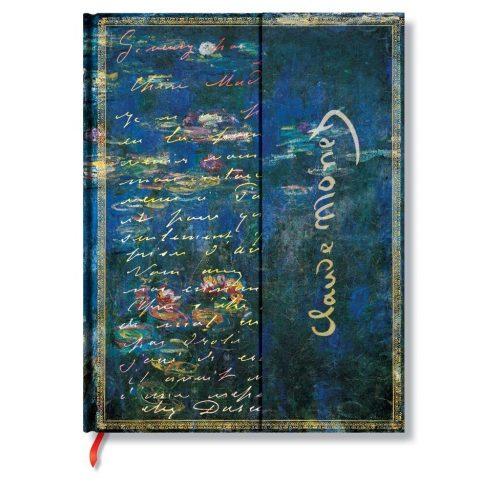 Paperblanks butikkönyv Monet, Water Lillies ultra vonalas