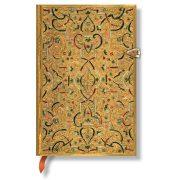 Paperblanks butikkönyv Gold Inlay mini vonalas