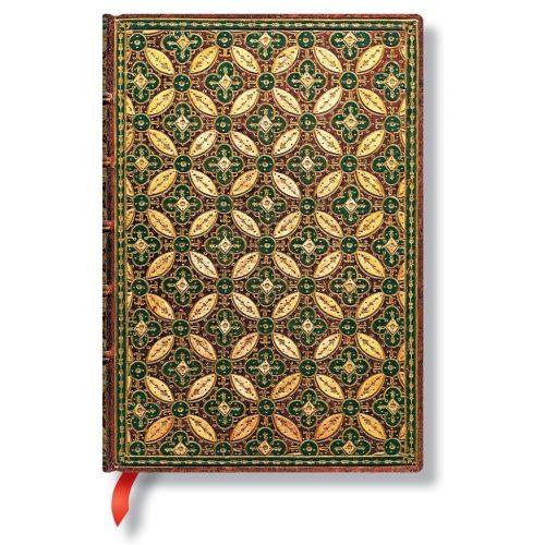 Paperblanks butikkönyv Mosaïque Safran midi vonalas