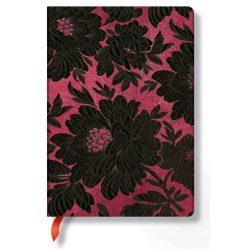 Paperblanks butikkönyv Black Dahlia midi vonalas