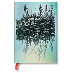 Paperblanks butikkönyv Boats and Reflections midi vonalas