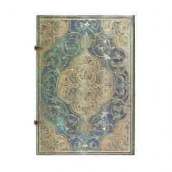Paperblanks butikkönyv Turquoise Chronicles midi vonalas