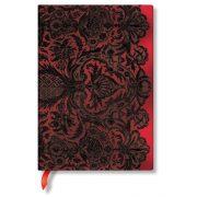 Paperblanks butikkönyv Rouge Boudoir midi vonalas