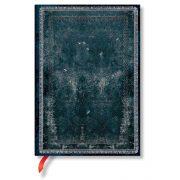 Paperblanks butikkönyv Midnight Steel midi vonalas